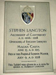 Stephen Langton Memorial